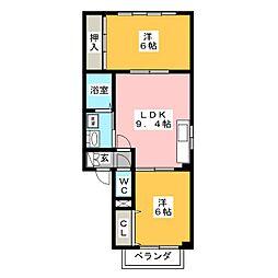 ファミールハイムA[2階]の間取り