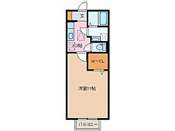 三重県四日市市伊倉2丁目の賃貸アパートの間取り