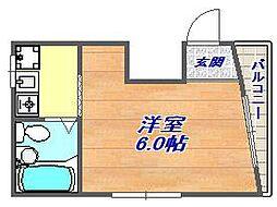 新在家マンション[401号室]の間取り