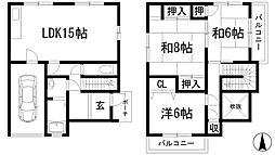 [一戸建] 兵庫県宝塚市安倉西4丁目 の賃貸【/】の間取り