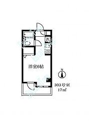 東京都目黒区南3丁目の賃貸マンションの間取り