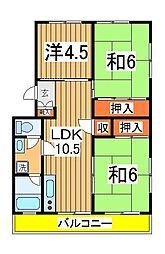 ドエル・ホーユー江戸川台[301号室]の間取り