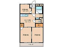 シャトレ平田[2階]の間取り