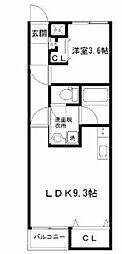 仙台市地下鉄東西線 八木山動物公園駅 徒歩15分の賃貸アパート 2階1LDKの間取り