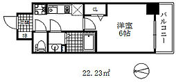 プレサンス兵庫駅前 13階1LDKの間取り
