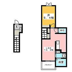 バッラーレ ドラーゴ[2階]の間取り