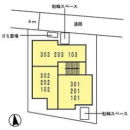 キューブコート・東三国[102号室]の外観