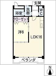 第1富士[3階]の間取り