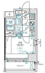 クレイシア西横浜[8階]の間取り
