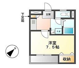 愛知県名古屋市緑区桶狭間北2丁目の賃貸アパートの間取り