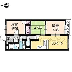 ベネート京都洛西[3階]の間取り