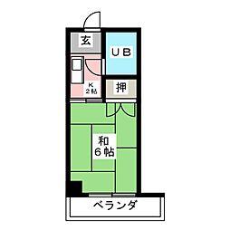 安井ビル[4階]の間取り