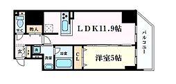 プレサンス阿波座駅前 8階1LDKの間取り