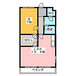 トピア清龍II[3階]の間取り