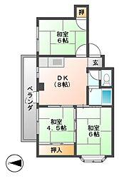 藤原マンション(野中)[2階]の間取り