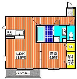 WISTERIA  PLACE  E・B・R[3階]の間取り