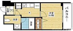 Osaka Metro御堂筋線 東三国駅 徒歩2分の賃貸マンション 9階1Kの間取り