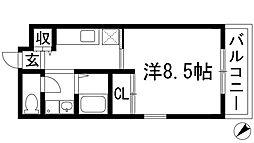 ジョイメニー[1階]の間取り
