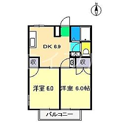 コーポ横浜I[2階]の間取り
