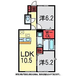 ラ プリマさくら坂[1階]の間取り