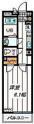 JR京浜東北・根岸線 浦和駅 徒歩11分の賃貸マンション 1階1Kの間取り