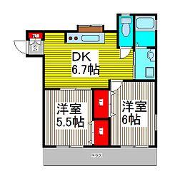 パームヒルズ2[3階]の間取り