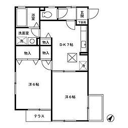 グレースS.Y[2階]の間取り