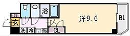 大阪府八尾市宮町4丁目の賃貸マンションの間取り