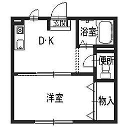 セファミ中藪[1階]の間取り
