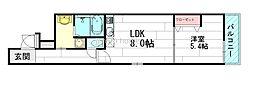 くすのきアパートメント1[2階]の間取り