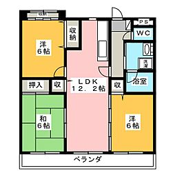 ベンハウス平田東公園[2階]の間取り