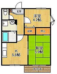 サンシャイン夙川[1階]の間取り