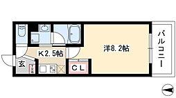 タウンライフ覚王山北 3階1Kの間取り