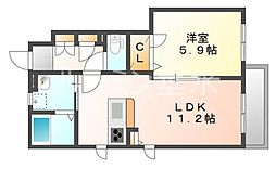 仮 プロヌーブ社[1階]の間取り