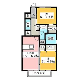 仮)D−room宮竹1丁目[1階]の間取り
