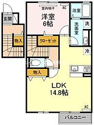 仮)D−room小寺[2階]の間取り
