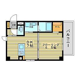 エステムコート心斎橋EASTIIIエクシード[114階]の間取り