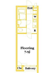 JR南武線 矢向駅 徒歩17分の賃貸アパート 1階1Kの間取り