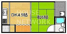 藤川荘[302号室号室]の間取り