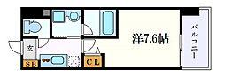 名古屋市営東山線 新栄町駅 徒歩10分の賃貸マンション 8階1Kの間取り