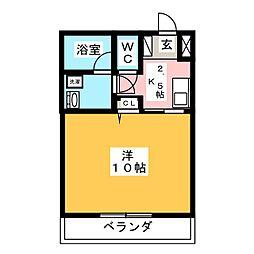 丸中マンション新居[1階]の間取り