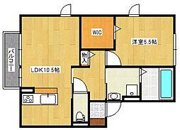 リーベンコート[2階]の間取り