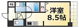 Osaka Metro千日前線 今里駅 徒歩4分の賃貸マンション 3階1Kの間取り