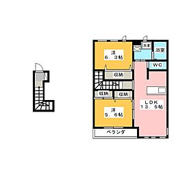 ユニヴァリーラビータ[2階]の間取り
