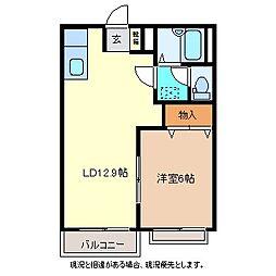 ユタカコーポB棟[2階]の間取り