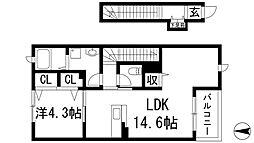 ココルアーナK1[2階]の間取り