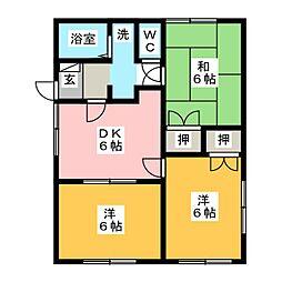 ソフィア松岡[1階]の間取り