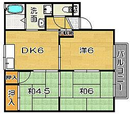 サニーコート清福寺[103b号室]の間取り