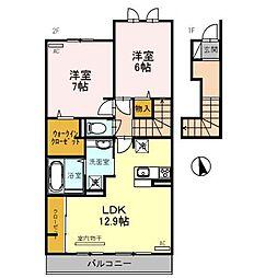 兵庫県姫路市大津区天満の賃貸アパートの間取り