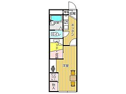 JR筑豊本線 本城駅 徒歩35分の賃貸アパート 1階1Kの間取り